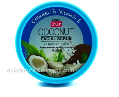 Скраб для лица с Кокосом коллагеном и витамином Е (BANNA Coconut Facial Scrub Collagen & Vitamin E)