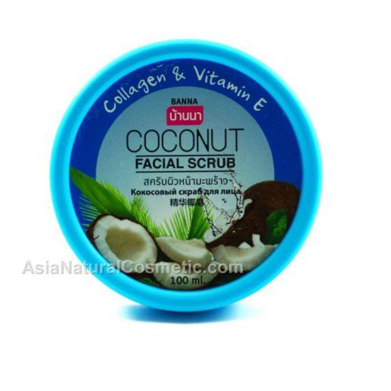 Скраб для лица с Кокосом коллагеном и витамином Е (BANNA Coconut Facial Scrub Collagen & Vitamin E)