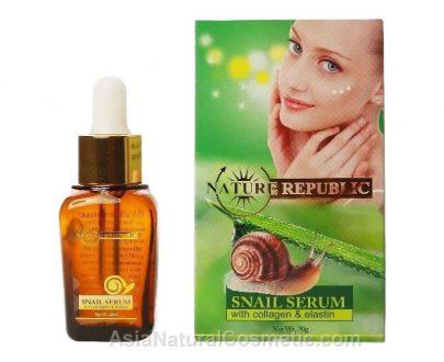 Сыворотка с экстрактом секреции улиток, с коллагеном и эластином (NATURE REPUBLIC Snail Serum Collagen & Elastin)