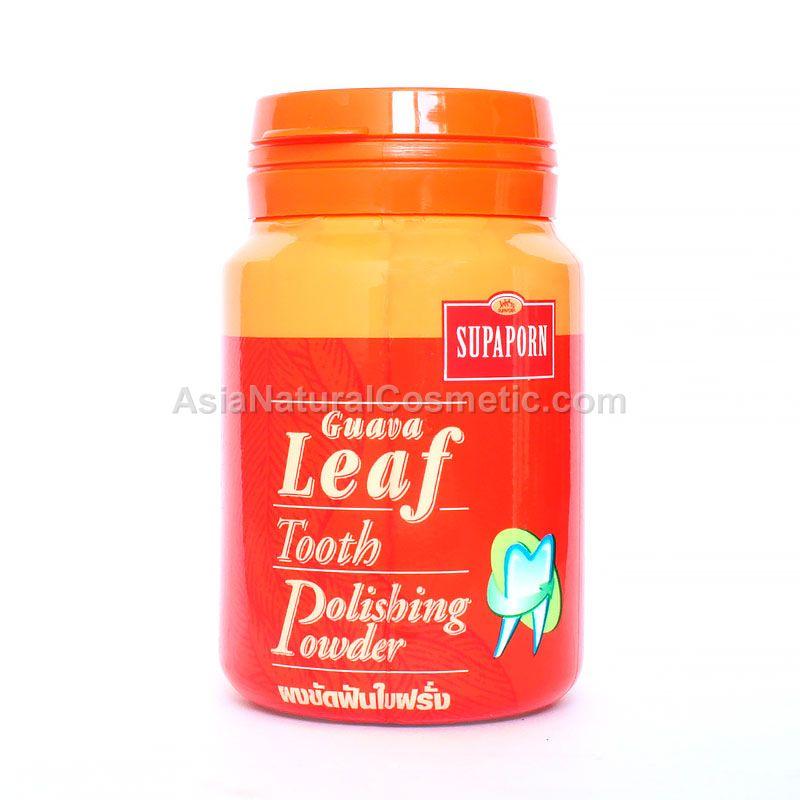 Зубной порошок для отбеливания с листьями Гуавы (SUPAPORN Guava Leaf Tooth Polishing Powder)
