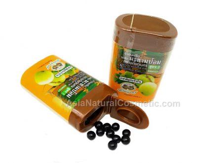 Тайские травяные шарики от кашля и боли в горле с эмбликой (Abhaibhubejhr Makham Pom cough drop)