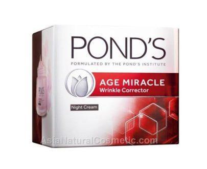 Ночной антивозрастной крем-корректор морщин c ретинолом для лица (POND'S Age Miracle Wrinkle Corrector Retinol-C Night Cream)